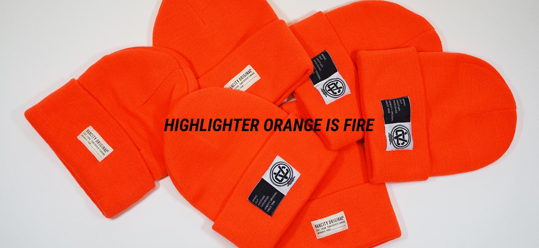 Highlighter Orange Beanies