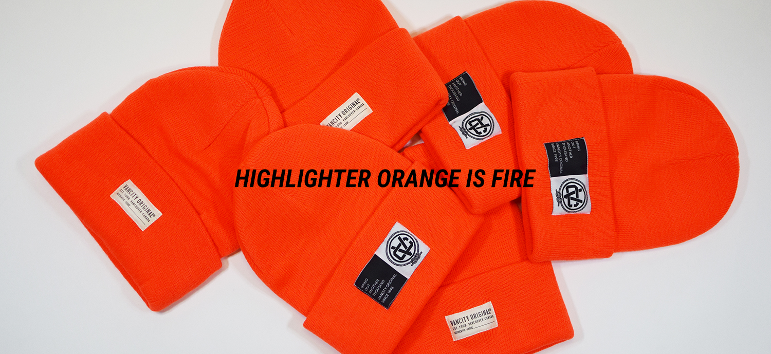 Highlighter Orange Beanies
