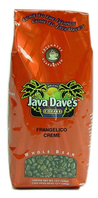 Frangelico Creme 12oz Bag - Hazelnut & Vanilla flavoring.