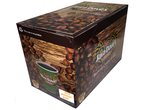 DECAF Breakfast Blend / 24ct Box / Single Cup Coffee