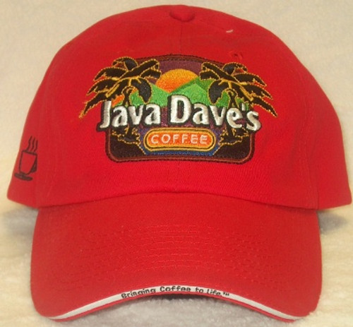 Red Java Dave's Baseball Hat