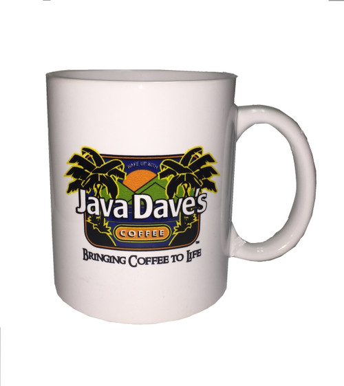 White Ceramic Java Dave's Logo Mug