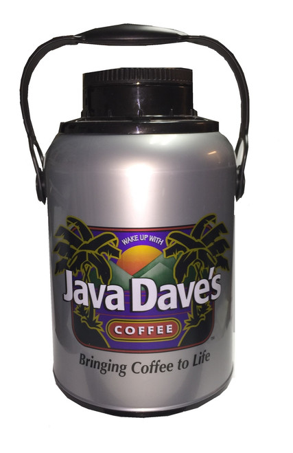 Mega Brew 100% Java Dave's To Go Refillable Thermos