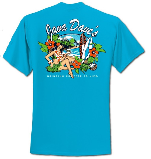 Back of Blue Sapphire Kona T-Shirt