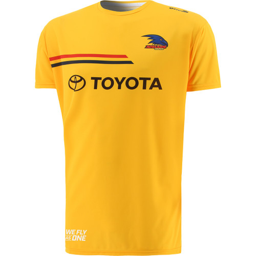 2021 Adelaide Crows Training Tee Gold