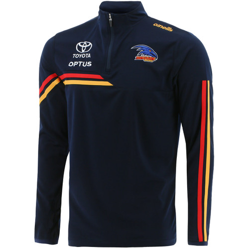 2021 Adelaide Crows Elite Half Zip Training Top Long Sleeve