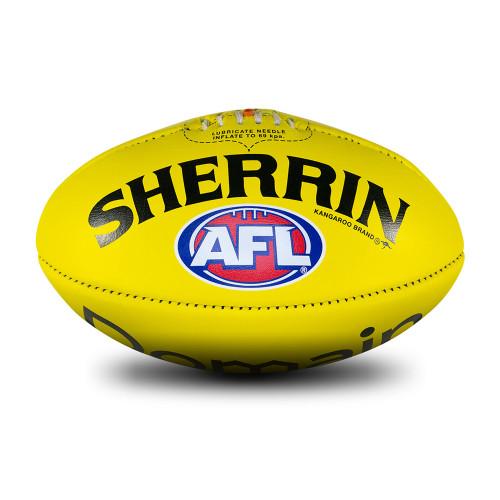 Adelaide Crows Sherrin Yellow AFL Team Gameball Size 5