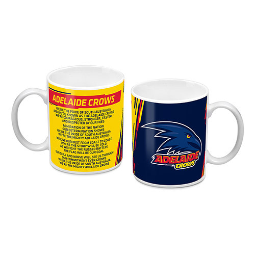Adelaide Crows Logo & Song Mug