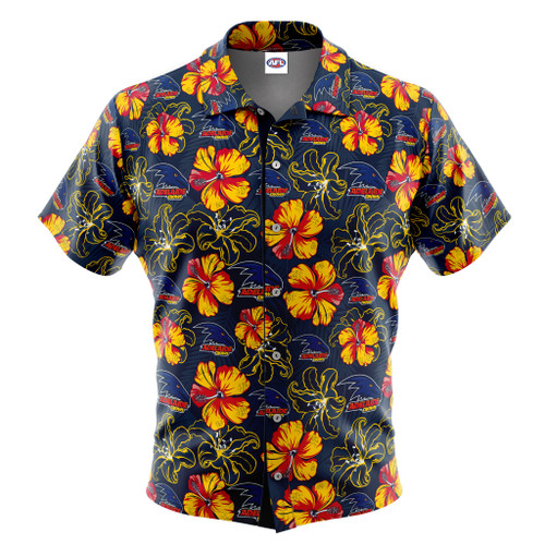 Adelaide Crows Hawaiian Shirt - Hibiscus