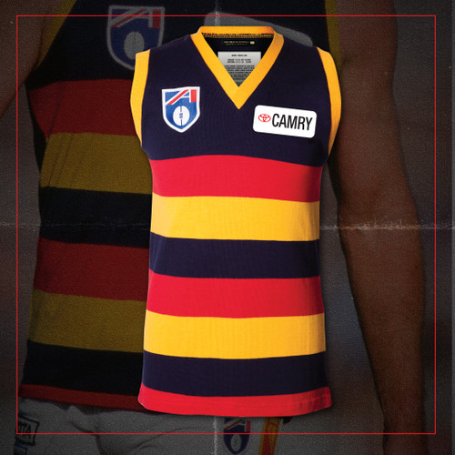 Adelaide Crows Fibre Of Footy Short Sleeve Camry 91 Jumper