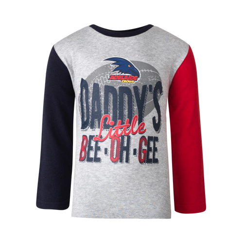 Adelaide Crows Toddler Long Sleeve Tee