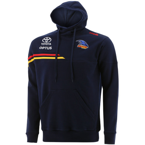 2021 Adelaide Crows On Field Fleece Overhead Hoody