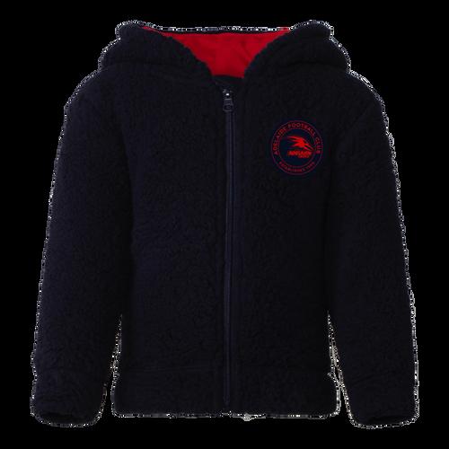 Adelaide Crows Toddler Sherpa Hoodie Jacket