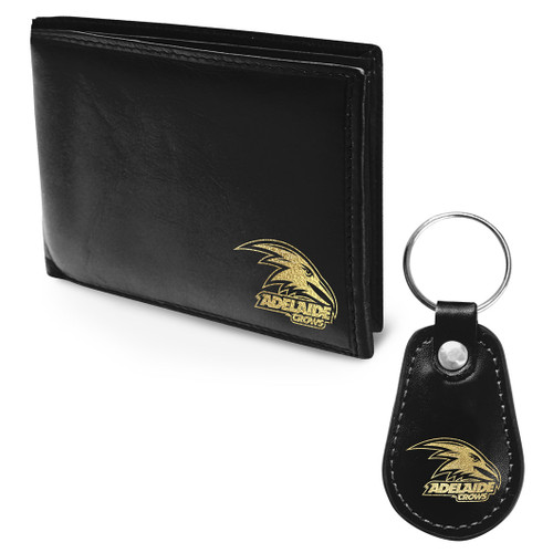 Adelaide Crows PU leather wallet & keyring gift pack