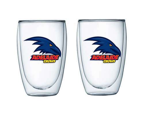 Adelaide Crows Double Walled Glass Set
