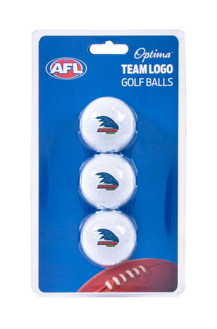 Adelaide Crows Opitma Golf Balls - 3 Pack