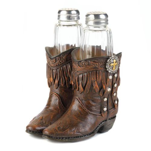 Fringed Cowboy Boots Salt & Pepper Holder
