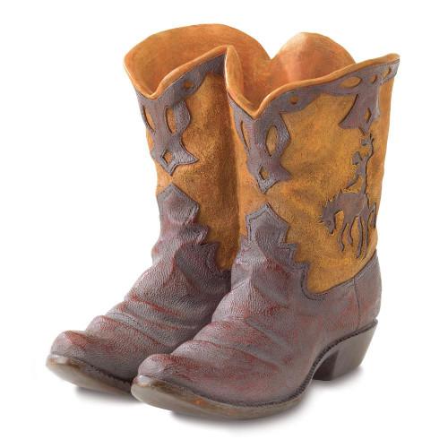 Rustic Cowboy Boots Planter