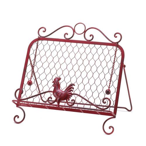 Red Rooster Cookbook Holder