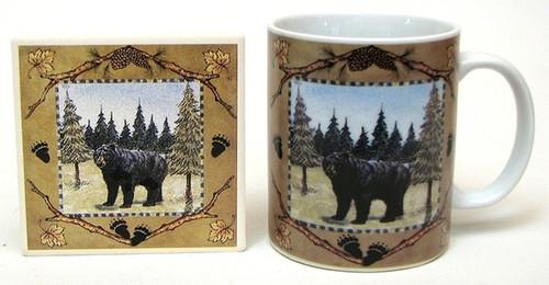 Black Bear Mug & Coaster Set
