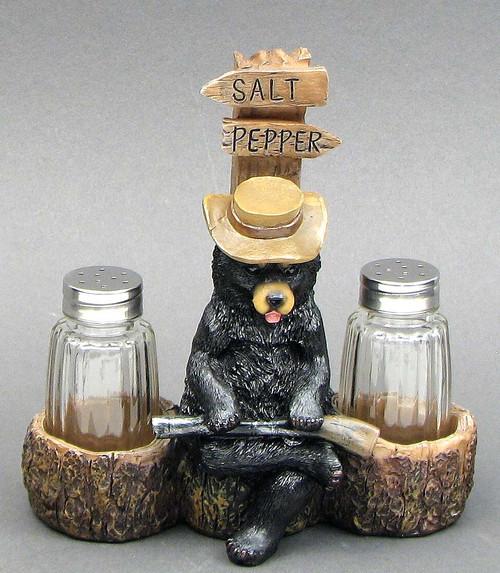 Black Bear Guard Salt & Pepper Set