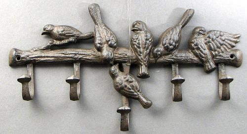 Gathering Birds Wall Hooks