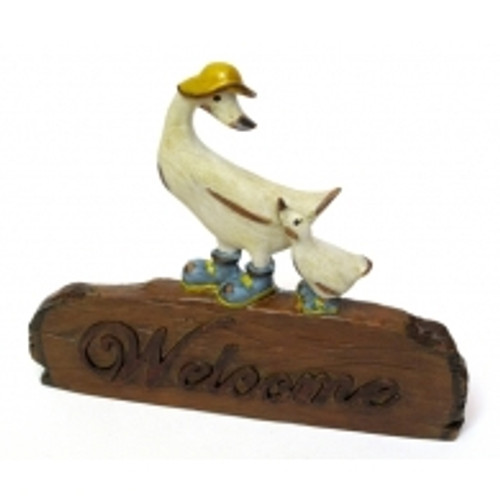Duck & Duckling Welcome Sign