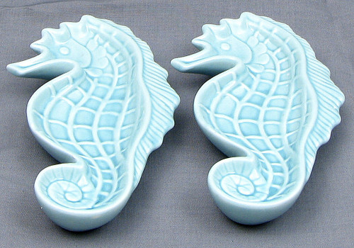Ceramic Seahorse Trinket Dishes, Set of 2
