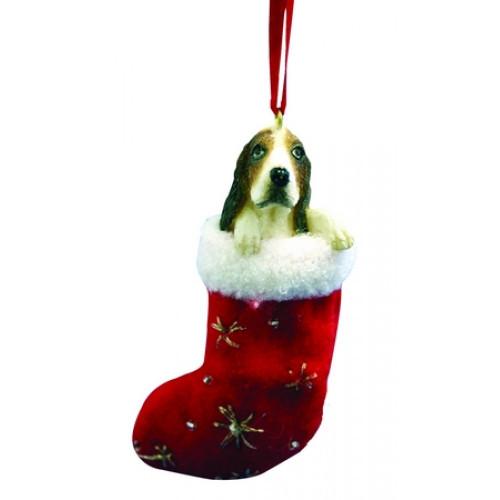 Basset Hound Stocking Ornament