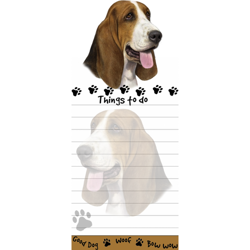 Basset Hound List Pad