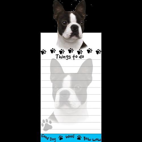 Boston Terrier List Pad