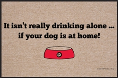 Drinking Alone - Dog Doormat