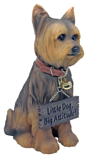 Little Dog, Big Attitude - Yorkie Statue