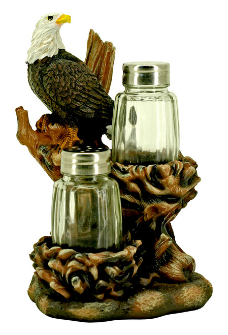 Bald Eagle's Nest Salt & Pepper Set