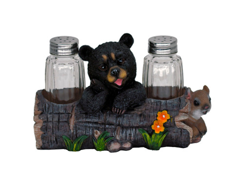 Black Bear & Squirrel Salt & Pepper Set