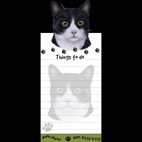 Black & White Cat List Pad