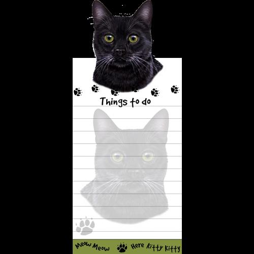 Black Cat List Pad