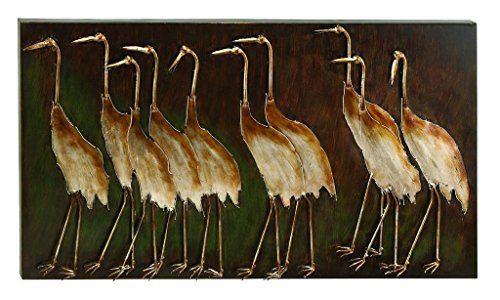 3-D Metal Cranes Wall Art