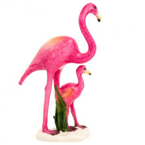 Flamingo Mother and Baby Figurine