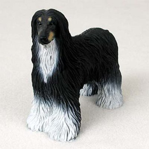 Afghan Black & White Dog Figurine