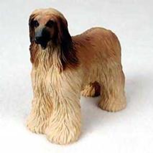 Afghan Tan & White Dog Figurine