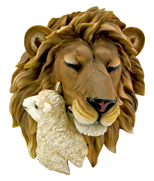 Lion & Lamb Wall Sculpture