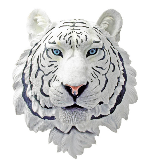 White Tiger Wall Sculpture