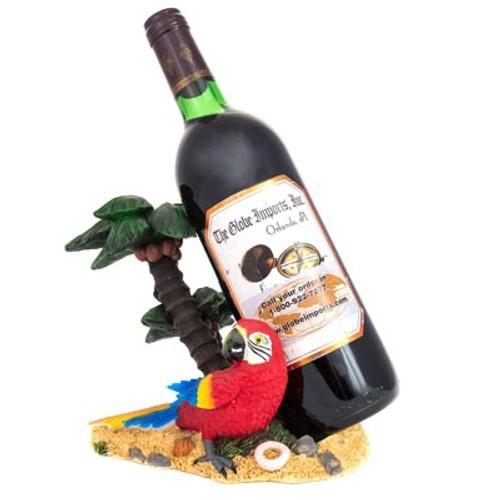 Parrot on Island Wine Bottle Holder