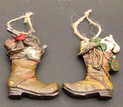 Cowboy Boot Ornaments, Set of 2