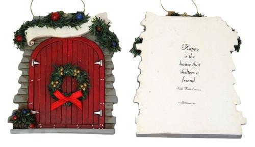 Roman Red Barn Door Ornament