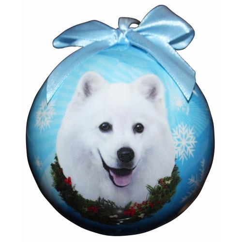 American Eskimo Ball Ornament