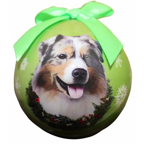 Australian Shepherd Ball Ornament