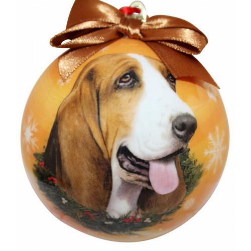 Basset Hound Ball Ornament