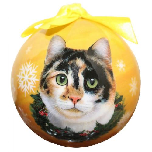 Calico Cat Ball Ornament